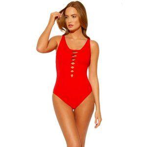 Bleu Rod Beattie $108 Twister Scarlet Swimsuit
